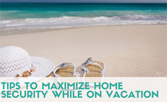 Flip flops on the beach (caption: Tips To Maximize Home Security While On Vacation)