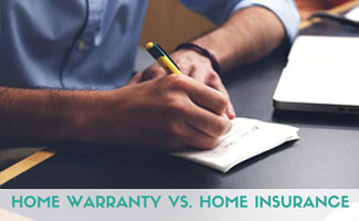Person writing on paper: Difference Between Home Warranty and Home Insurance