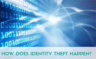 Data on screen: How Does Identity Theft Happen?