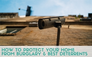 Security camera on side of building (caption: Best Burglar Deterrents)