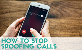 Person on iphone (Caption: How to Stop Spooofing Calls)