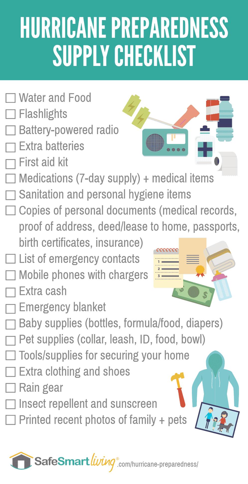 Hurricane Supply Checklist Infographic