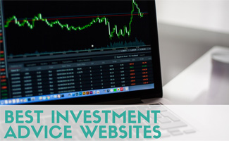 Computer Screen With Financial Charts (Caption: Best Investment Advice Websites)