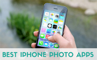 Person holding iPhone: Best iPhone Photo Apps Review