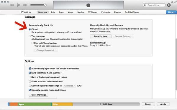 Use iTunes Backup