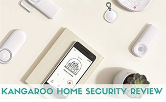 Kangaroo security system equipment on table (caption: Kangaroo Home Security Review)