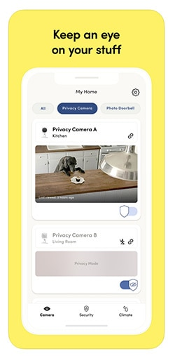 Kangaroo Home Security App Screenshot