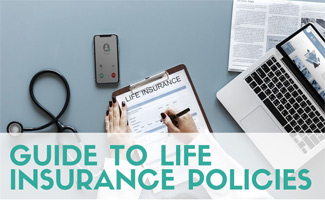 Doctor reviewing life insurance policy (caption: Guide To Life Insurance Policies)