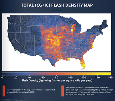 Lightning Density Map 2020