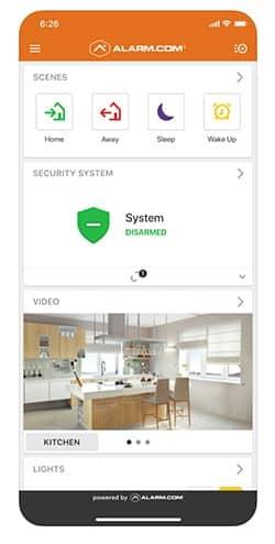 Link Interactive home security app screenshot