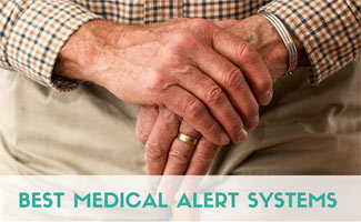 Elderly person's hands (caption: Best Medical Alert Systems)
