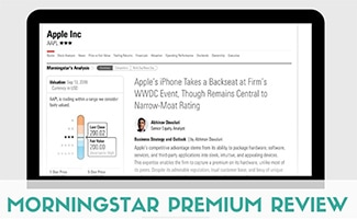 Morningstar Premium on computer screen (caption: Morningstar Premium Review)