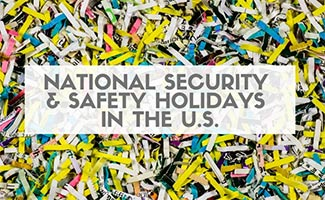 Shredded paper (caption: National Security & Safety Holidays in the U.S.)