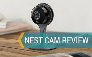 Nest Cam on table: Nest Cam Review