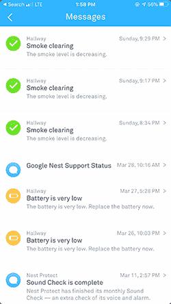 Nest Protect App screenshot