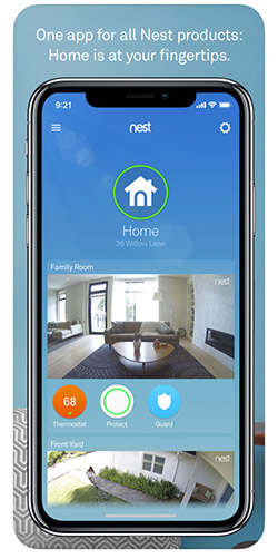Nest Secure home security app screenshot