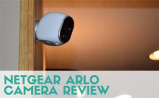 Netgear Arlo Camera on the wall