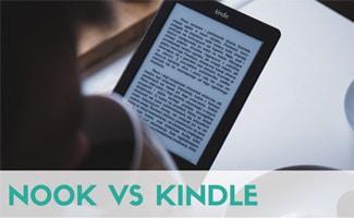 Person reading Kindle - Nook vs Kindle