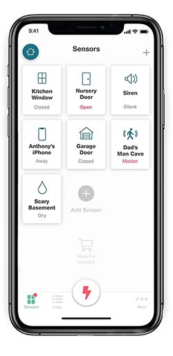 Ooma Home Security app