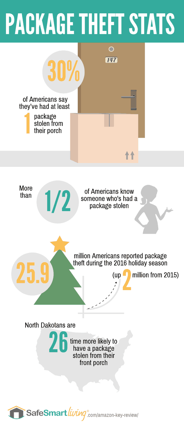 Package Theft Statistics infographic