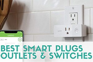 Smart plug and phone (caption: Best Smart Plugs, Outlets & Switches)