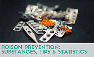 Pills and medicine splayed out in the darkness (caption: Poison Prevention: Common Substances, Tips, Statistics & More)