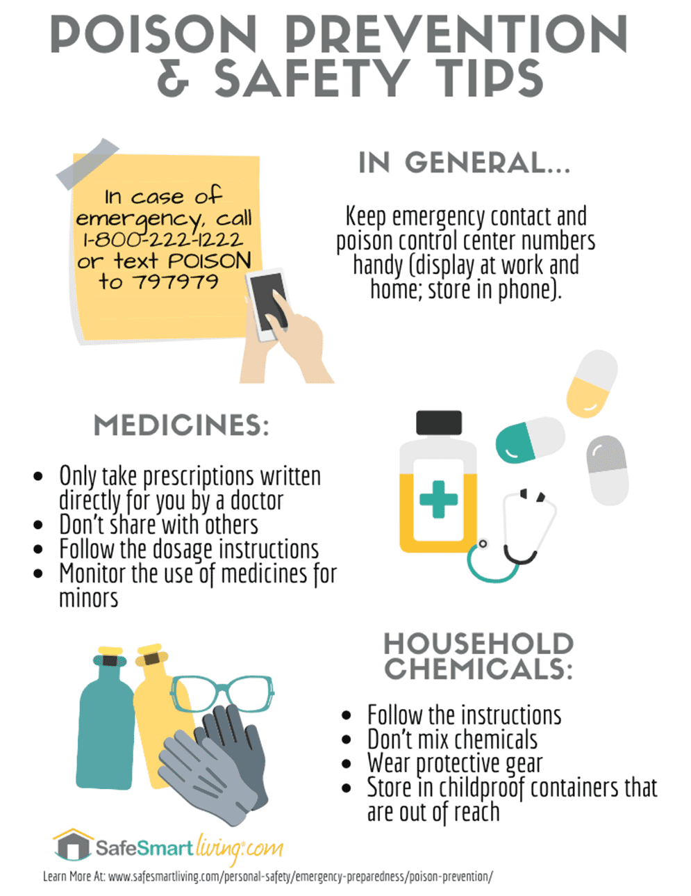 Poison Prevention & Safety Tips Infographic