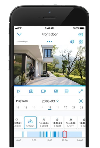 Reolink Camera ios app on iphone