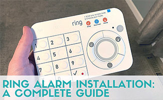 Holding Ring alarm keypad (caption: Ring Alarm Installation A Complete Guide)
