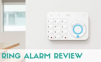Ring alarm panel on wall