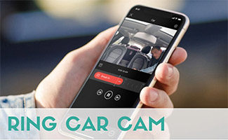 Man holding iPhone with Ring Car Cam app (caption: Ring Car Cam)