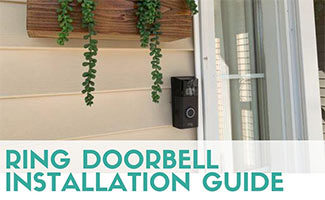 Ring doorbell camera (caption: Ring Doorbell Installation)