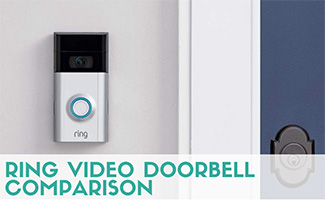 Ring Video Doorbell camera (caption: Ring Video Doorbell Comparison)