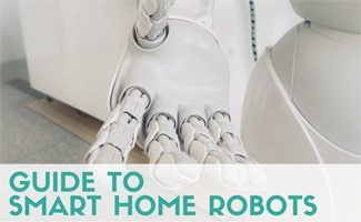 Robot hand reaching out (Caption: guide to smart home robots)
