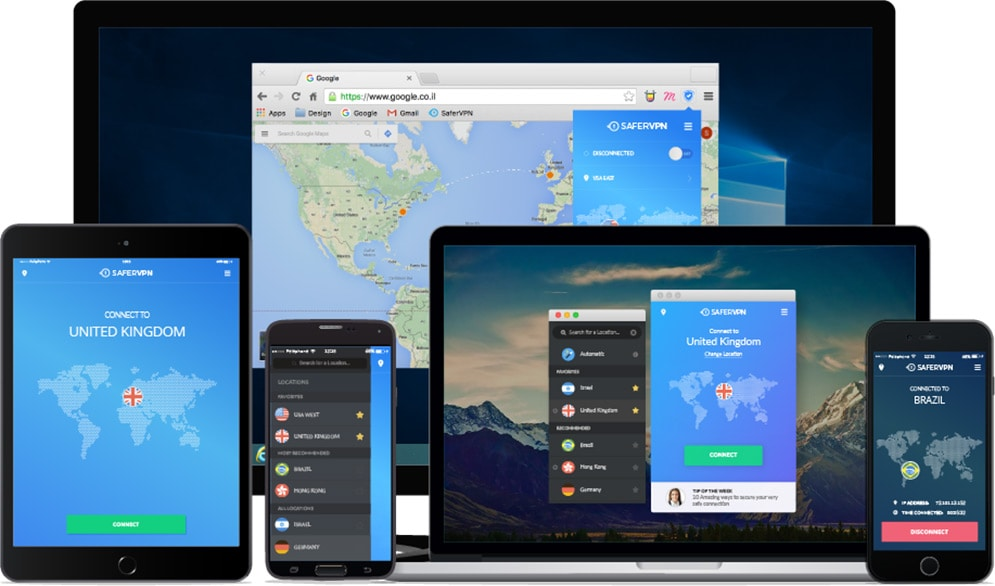 SaferVPN on multiple devices