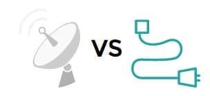 Satellite vs Cable icon