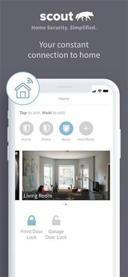 Scout Home Security App Screenshot