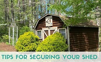 Shed in backyard (caption: Tips For Securing Your Shed)