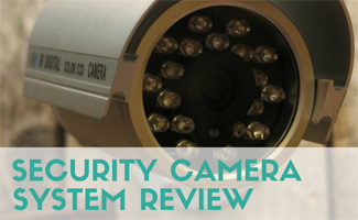 Outdoor camera up-close (Caption: Security Camera System Review)