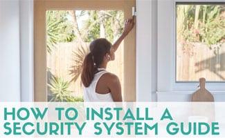 Girl installing door sensor