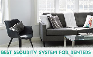 Apartment living room (caption: Best Security System For Renters)