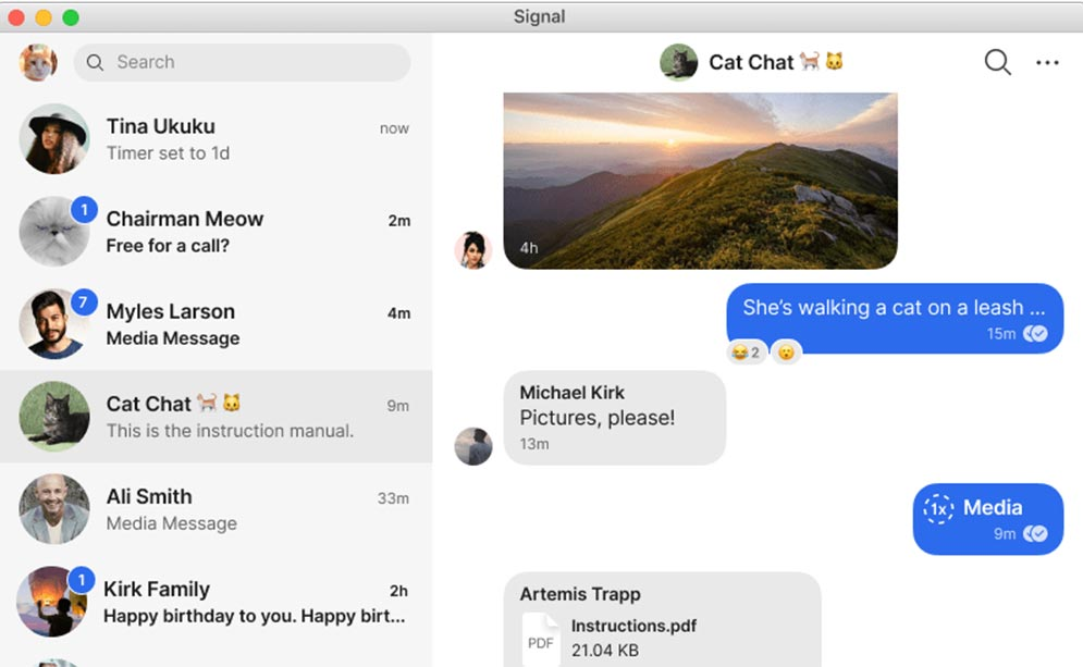 Signal App for desktop