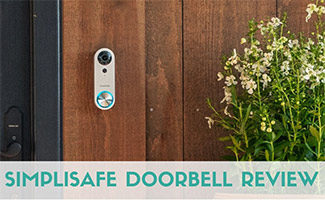 Simplisafe doorbell outside (caption: Simplisafe Doorbell Review)