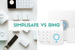 SimpliSafe vs Ring side by side (caption: SimpliSafe vs Ring)