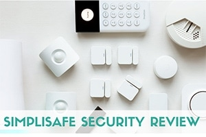 SimpliSafe system equipment (caption: SimpliSafe Review)