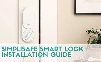 Simplisafe smart lock inside of door in home (caption: SimpliSafe Smart Lock Installation)