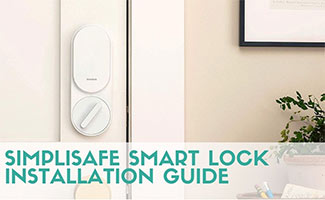 Simplisafe smart lock inside of door in home (caption: SimpliSafe Smart Lock Installation)