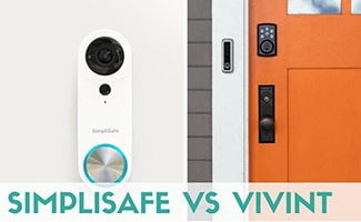 SimpliSafe vs Vivint doorbells side by side (caption: SimpliSafe vs Vivint)