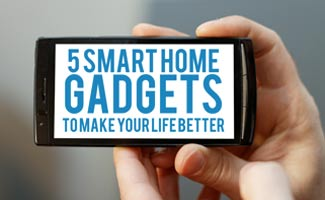 Person holding phone: Smart Home Gadgets