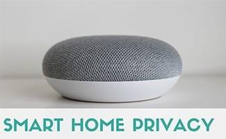Google Home mini (caption: Smart Home Privacy)